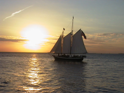 boat at sunset from mallory square | by jdeeringdavis