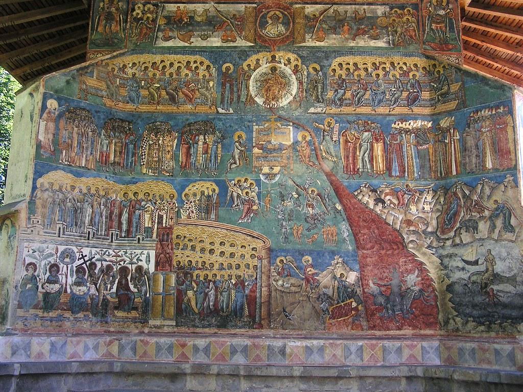 Juicio final mural oeste monasterio voronet rumania 05 for Blog mural do oeste