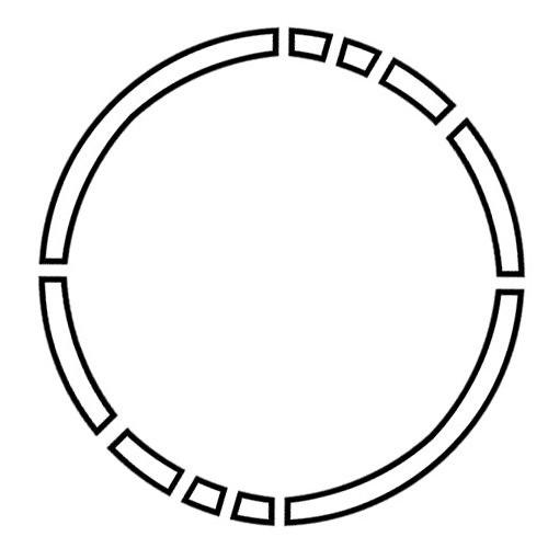 tattoo design 1  simple broken circle