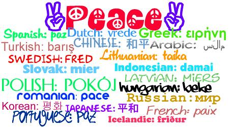 Peace In  Different Languages By Guitarhippie