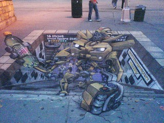 Julian Beever's 3D Transformer at Union Square | by hotdogger13