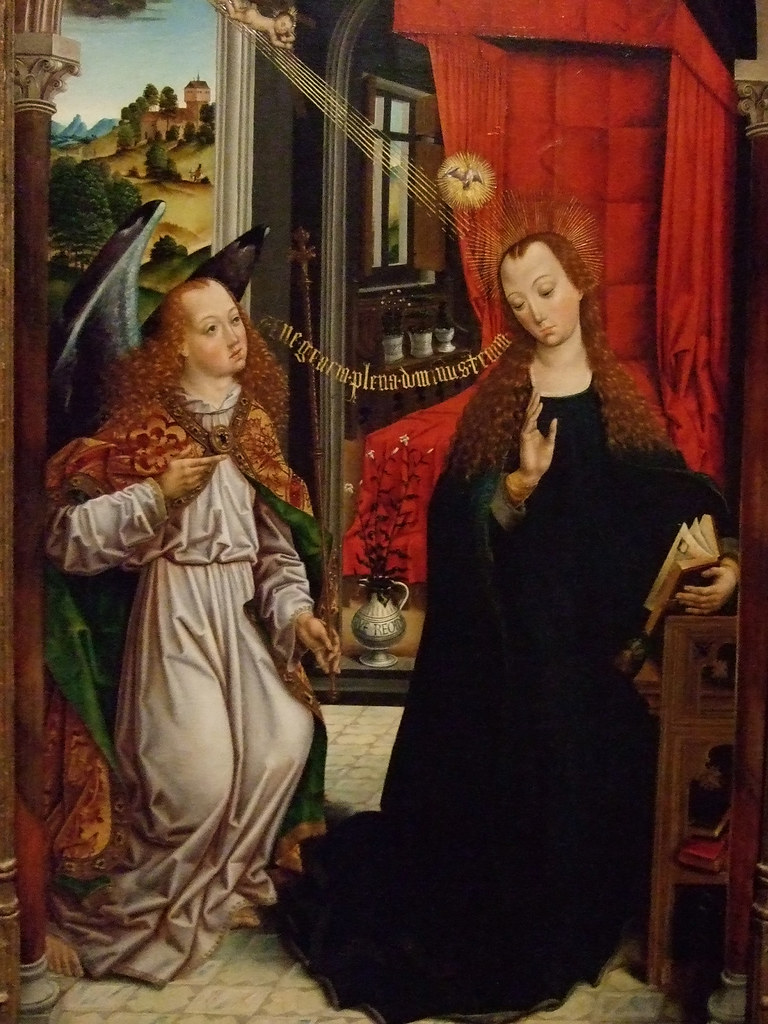 The Annunciation by the Master of the Retable of the Reyes ...