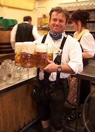 german beer hall worker a man who dosent hate his job flickr. Black Bedroom Furniture Sets. Home Design Ideas