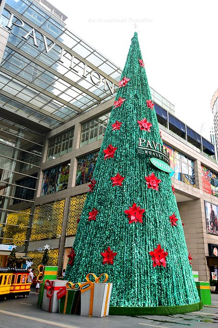 The Spritzer sponsored giant Christmas tree at the Main Entrance of Pavilion KL