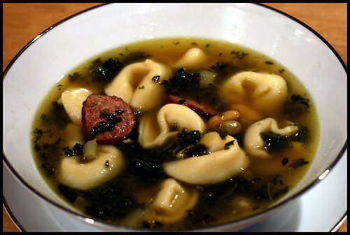 CHEESE TORTELLINI SOUP WITH CANNELLINI, KIELBASA & KALE | Flickr