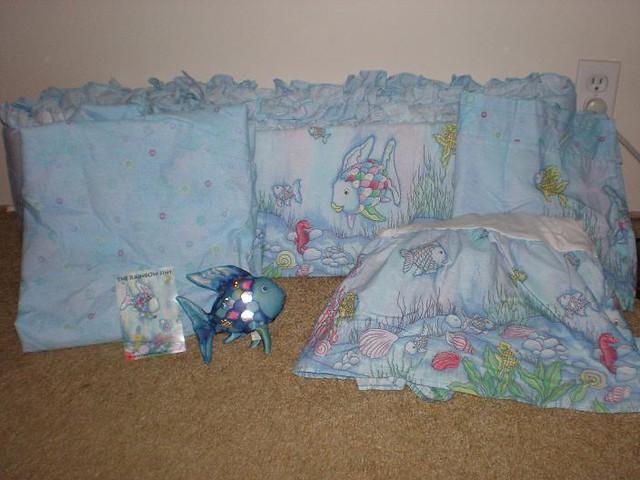 Kidsline Rainbow Fish Crib Set Make A Reasonable Offer