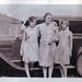 vintage: three ladies and an old car
