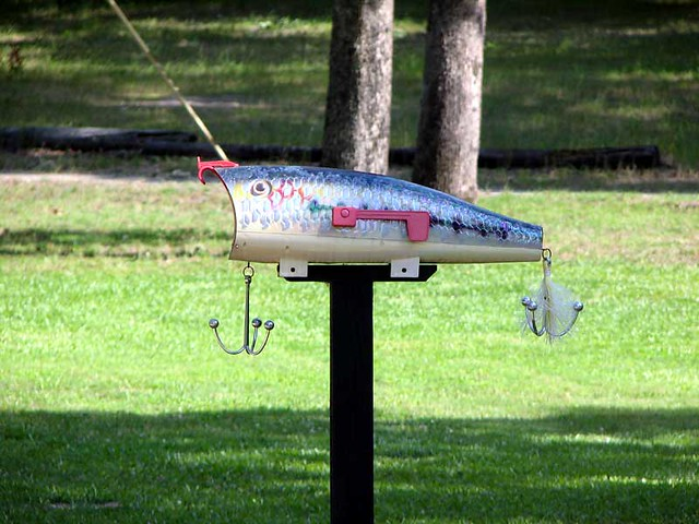 Fishing lure mailbox thomas n texas flickr for Fishing lure with camera