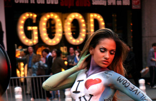 Body Paint Girl in Times Square | by woodmason