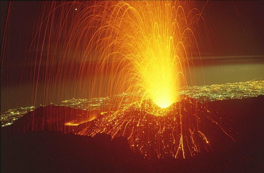 Mount Etna Erupting August 1997