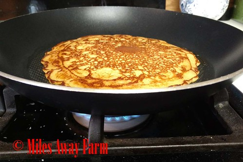 Thin cornmeal pancakes
