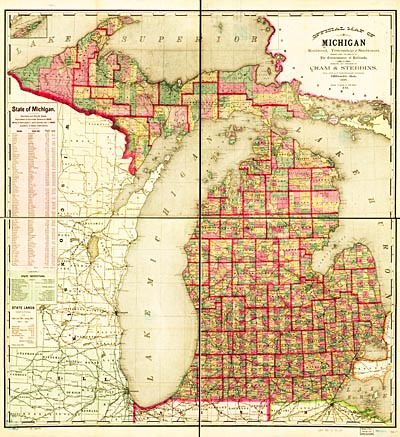 map of michigan cities and townships michigan map