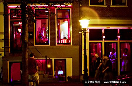 red Amsterdam district netherlands light