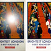 London Poster Before and After