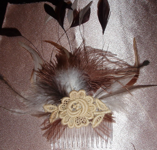 fascinator with flash on fabric (comb) | by djbebe