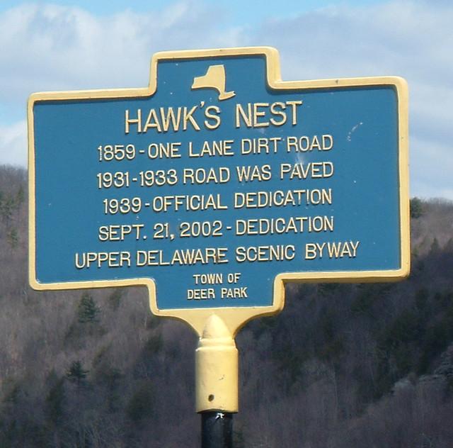 Hawks Nest Historical Marker New York State Historical