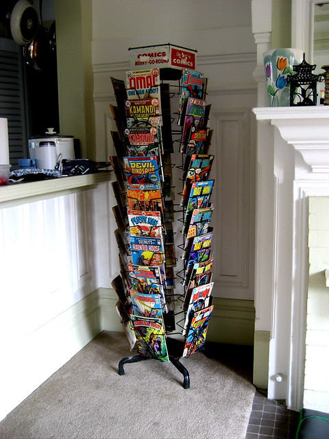 ... Our Comic Book Rack In The Living Room | By Animusicsf
