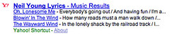 Yahoo Lyrics in Search Results | by rustybrick