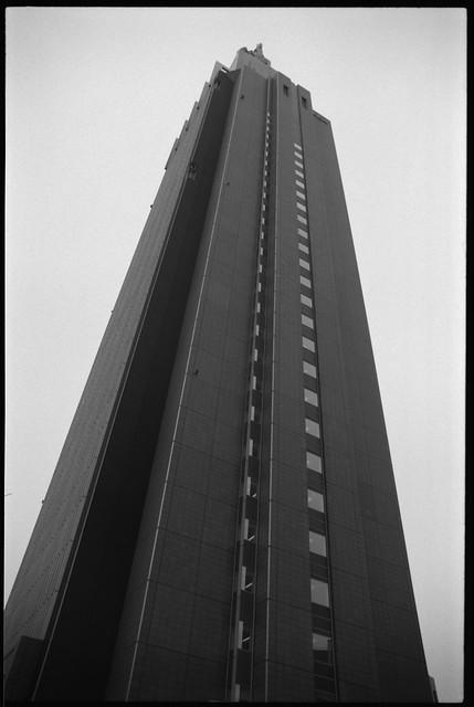 Docomo Tower | Olympus OM-2n / Zuiko MC 28/f2 / Ilford FP4 ...