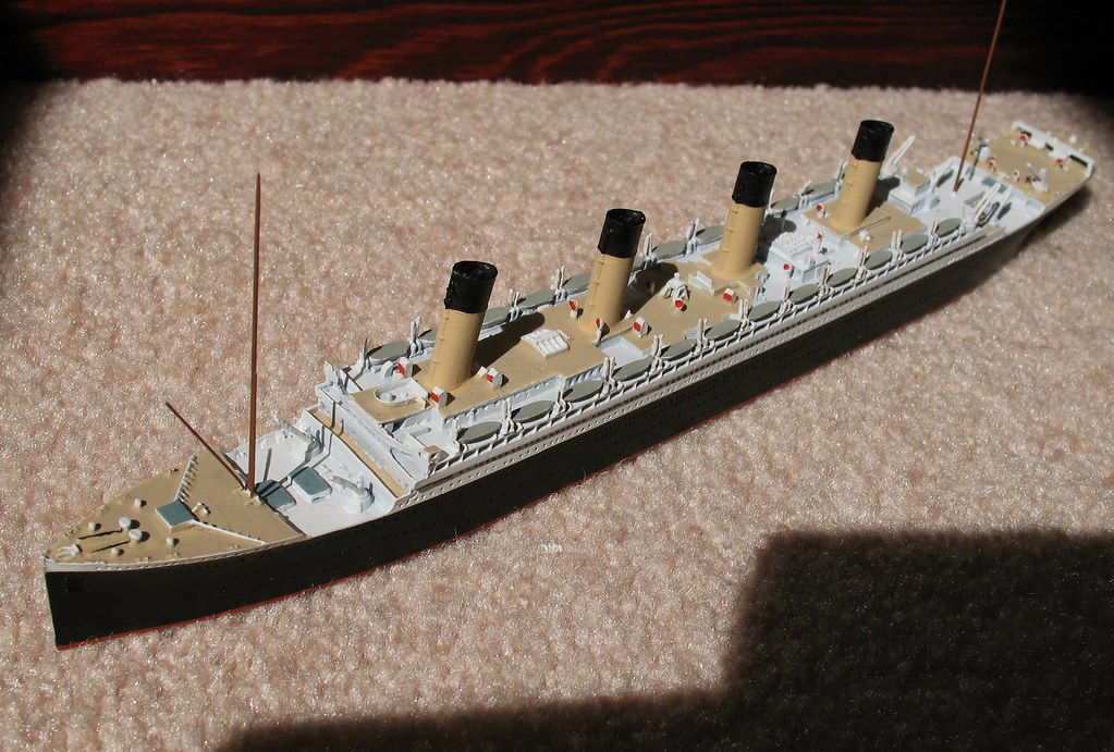 Rms Olympic Model Port Bow The Olympic Was Sister Ship