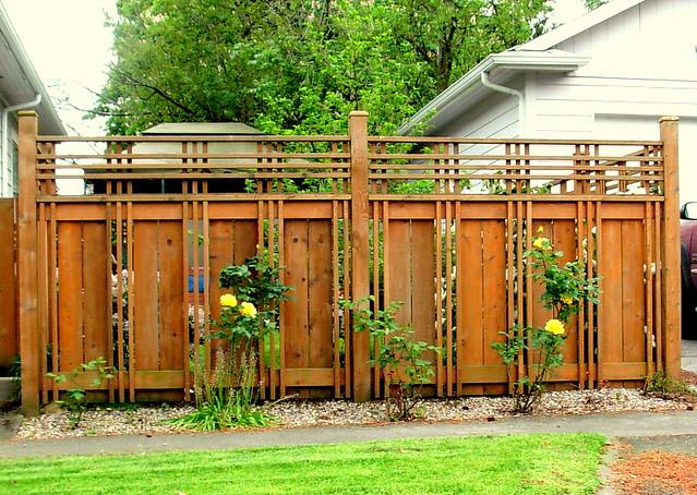 Beautiful Fence In Roseway Neighborhood, Portland
