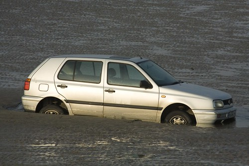 CAR STUCK IN SAND - BULL ISLAND | by infomatique