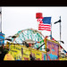 astrotower, wonderwheel, flag,  & grill