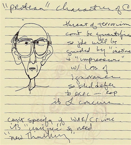 Handwritten notes with caricature | Ann Althouse | Flickr