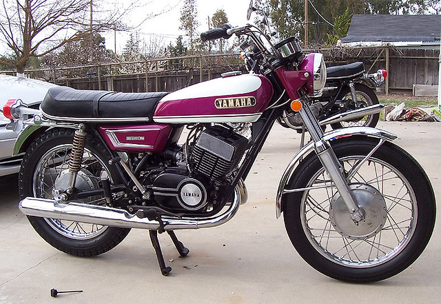 1970 yamaha 350cc r5 18 000 miles and still running now for Yamaha 350cc motorcycles