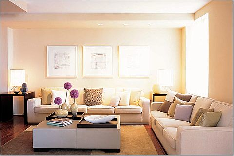 Living room furniture arrangement lots of seating good for Maximum seating for small living room