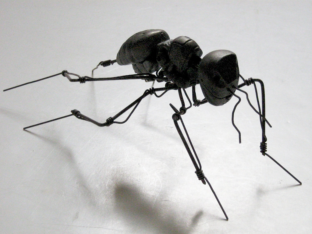 Robot Ant | acrylic on PVC gel and iron wire © Andrew Scott | Andrew ...