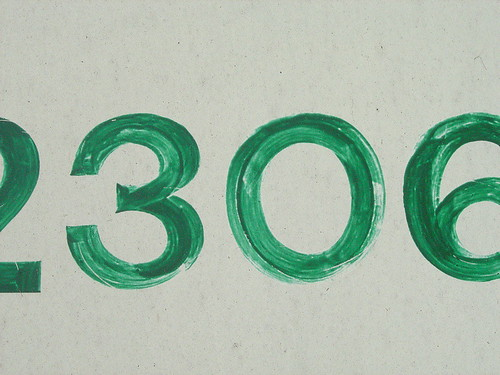 Green numbering | by house of bamboo