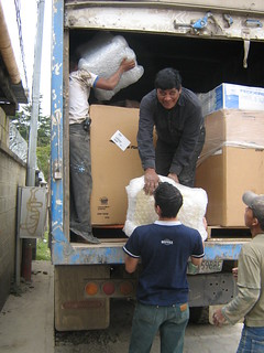 UNLOADING FIRST SHIPMENT IN BARRILLAS | by Computers for Guatemala