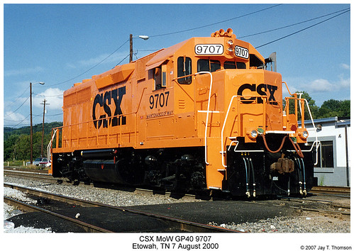 Csx Mow Gp40 9707 Scanned 35mm Print Shot In August