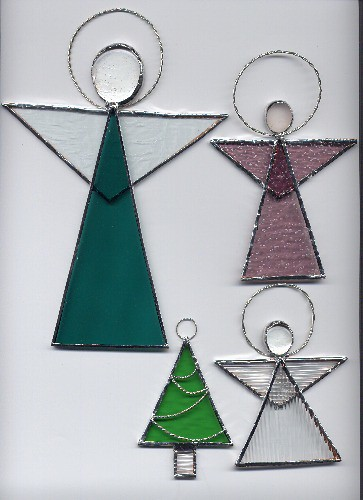 stained glass christmas ornaments 2003