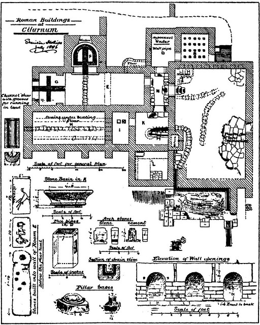 plan of Chesters baths
