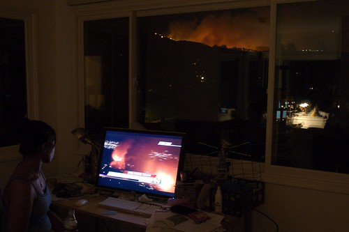 "Watching the Griffith Park fire in ""stereo"" 