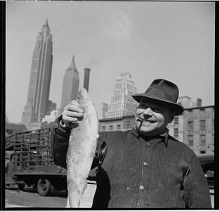 No Known Restrictions: Fisherman at Fulton Fish Market, NYC, 1943 by Gordon Parks (LOC) | by pingnews.com