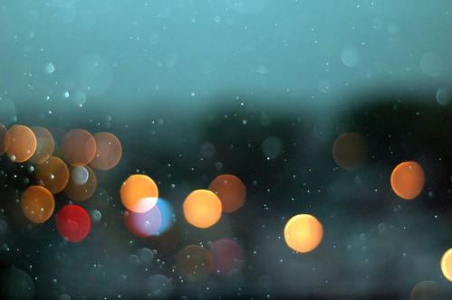 rain over street lights | by silent shot
