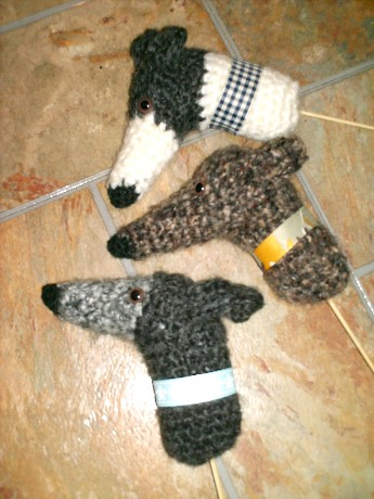 Greyhound Plant Poke Ornaments | by GreyhoundCrafts