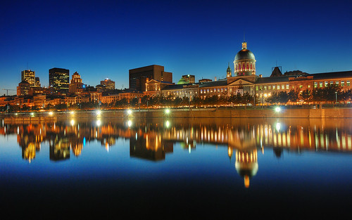 Old Montreal Skyline at the Blue Hour | HDR | Montreal, Canada | davidgiralphoto.com | by David Giral | davidgiralphoto.com