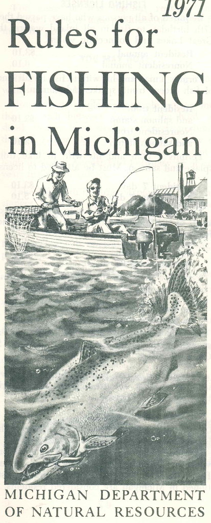1971 michigan fishing license guide don the upnorth for Fishing license michigan