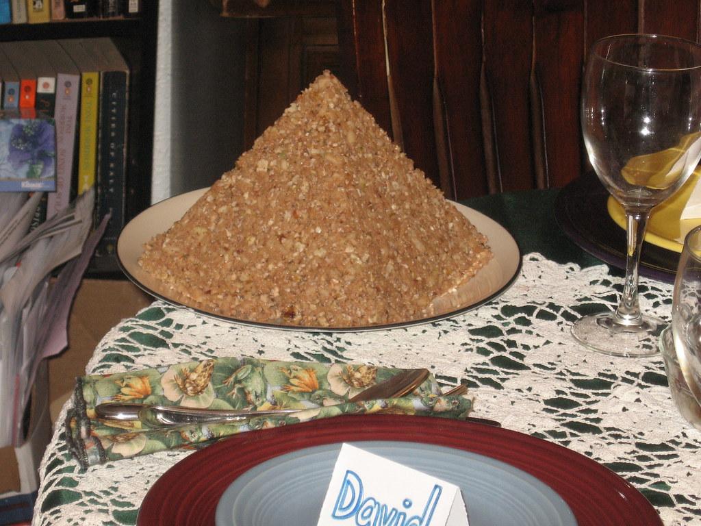 Charoset Pyramid a Charoset Pyramid by