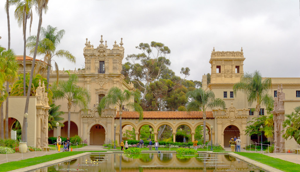 Panorama of Spanish Colonial Architecture - Balboa Park, S