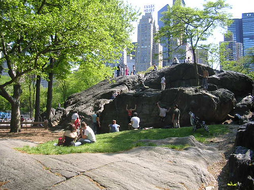 Rock climbers in Central Park | by scriptingnews