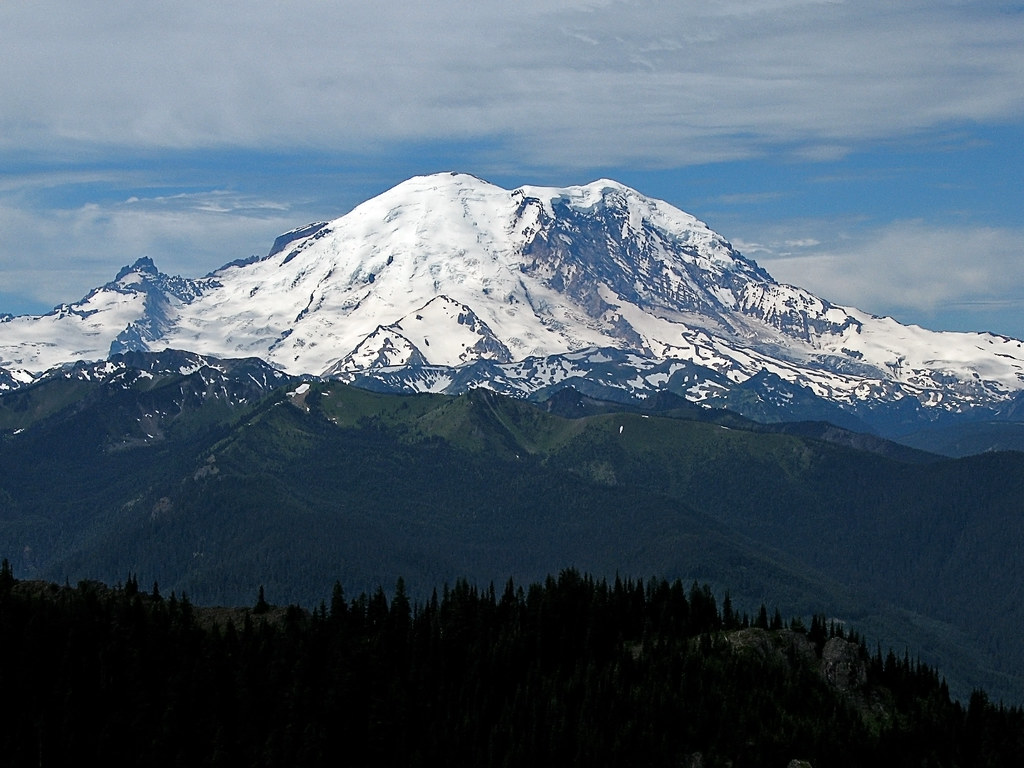 How Many Miles From >> One cubic mile of ice | Mount Rainier's northeast side, seen… | Flickr
