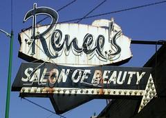 Renee 39 s salon of beauty sign signs renee 39 s salon of for Renee hair salon