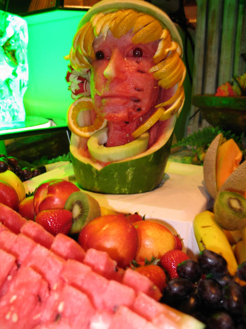 Carved fruit buffet centerpiece todd moy flickr