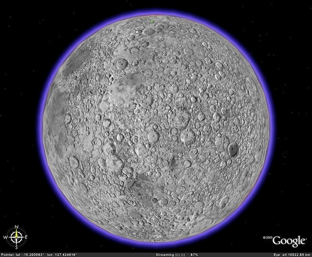 Better Google Moon Moon Surface Image Overlay All Over