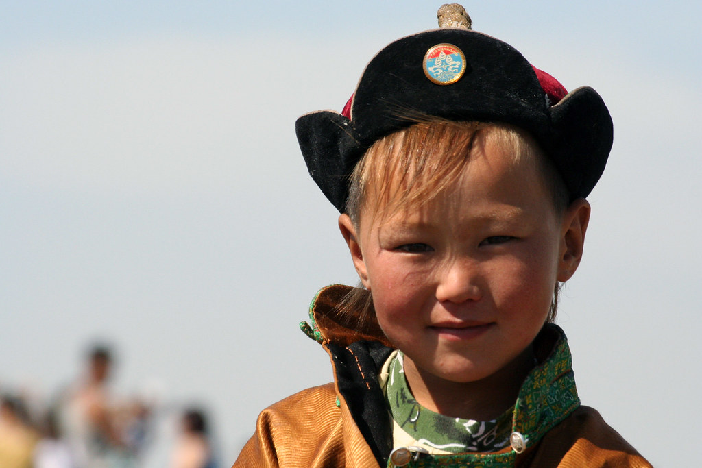 A Mongolian Boy A Mongolian Boy In Traditional Dress